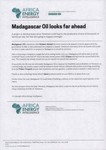 Madagascar Oil looks far ahead