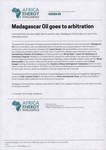 Madagascar Oil goes to arbitration