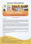 First Page: Akany Avoko: 2012 Annual Newsletter...