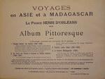 Back Cover: Voyages en Asie et ? Madagascar 188...
