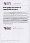 How to help civil society in negotiating contracts