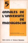 Front Cover: Annales de l'Université de Madagasc...