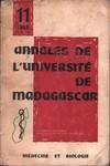 Front Cover: Annales de l'Université de Madagas...