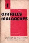 Front Cover: Annales Malgaches: Université de Ma...