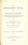 Titlepage (1875 Issue): The Antananarivo Annual and Madagas...
