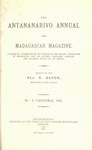Titlepage (1881 Issue): The Antananarivo Annual and Madagas...