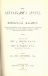 Titlepage (1884 Issue): The Antananarivo Annual and Madagas...