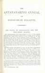 First Page (1886 Issue): The Antananarivo Annual and Madagas...