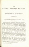 First Page (1888 Issue): The Antananarivo Annual and Madagas...