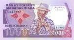 Front: Roan-Jato Ariary / 1000 Francs
