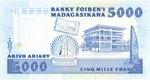 Back: Arivo Ariary / 5000 Francs