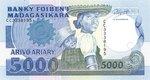 Front: Arivo Ariary / 5000 Francs