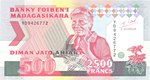 Front: Diman Jato Ariary / 2500 Francs