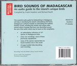 Back of Case: Bird Sounds of Madagascar: An audio...