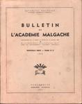 Bulletin de l'Académie Malgache