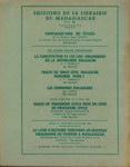 Back Cover: Cahier de Cartographie de Madagasca...
