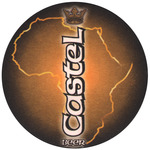 Bottom View: Castel Beer Mat: Circular