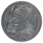 Back: 1 Franc Coin
