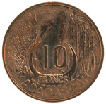 Front: 10 Franc Coin
