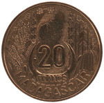 Front: 20 Franc Coin