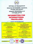 Front: Information for International Trave...