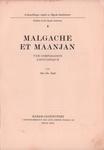Titlepage: Malgache et Maanjan: Une comparison...