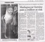 Foreign News: Madagascar famine puts a million at risk
