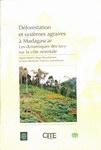 Front Cover: Déforestation et systèmes agraires ...