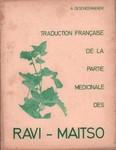 Traduction Française de la Partie Médicinale des Ravi-Maitso