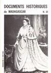 Booklet Cover: Documents Historiques de Madagascar...
