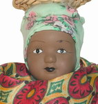 Face Detail: Porcelain Doll in Traditional Malag...