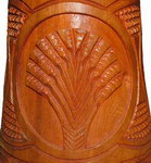 Carving Detail: Djembe Drum: Carved Palisander Wood
