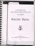 Front Cover: Récits Bara