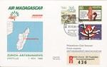 Air Madagascar Z�rich–Antananarivo Erstflug 1 Nov 1986