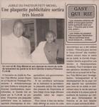 Jubil� du Pasteur Fety Michel: Une plaquette publicitaire sortira tr�s bient�t