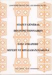 Statut G�n�ral des Fonctionnaires / Sata Aknapobe Mifehy ny Mpiasam-panjakana