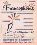 Front Cover: Francophonie 2016: Numéro 1