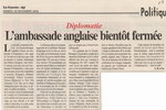 Article: Diplomatie: L'Ambassade Anglaise Bi...