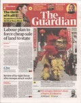 Front Cover: The Guardian: Friday 2 February 201...