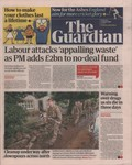 Front Cover: The Guardian: Thursday 1 August 201...