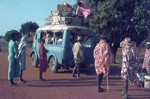 Heavily loaded taxi-brousse