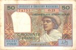 Front: Ariary Folo / 50 Francs