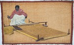 Front: Woman Weaving on a Loom