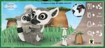 Leaflet: Lemur catta mother & baby with baob...