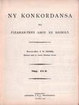 Titlepage: Ny Konkordansa: na Fizahan-teny ami...