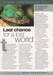 Last Chance for a Lost World
