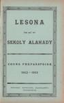 Titlepage (Vol 1): Lesona ho an'ny Sekoly Alahady: Cou...