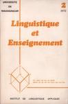 Front Cover: Linguistique et Enseignement: Lingu...