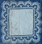Front: Lace Cloth: Embroidered at LMS Imer...