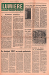 Front Cover: Lumière: Hebdomadaire d'Information...